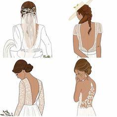 Noivinhas, apostem no decote! 😍  O decote nas costas dá um ar de sofisticação no vestido de noiva.   Sem contar que dá uma super valorizada nos detalhes do vestido. 👰  www.quemcasaquerdicas.com