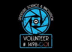 Aperture Science Volunteer T-Shirt | SnorgTees