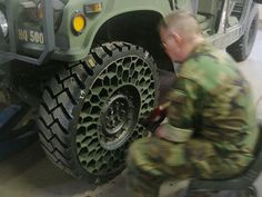 ZOMBIE SURVIVAL TOOL - The Airless Tire.  A honeycombed airless structure that permits vehicles ease of movement across territory which becomes increasingly unforgiving and impassable to normal wheels.  As the highways and roads break down, mobile survivors must adapt.