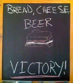 Bread. Cheese. Beer. Victory. #DeschutesBeer