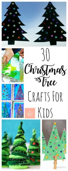 These Christmas tree crafts for kids are great to allow little ones to decorate their own tree instead of tearing down the big one. #christmascrafts #christmas