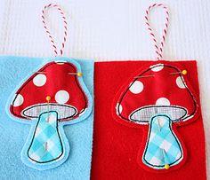 Mushroom ornament tutorial