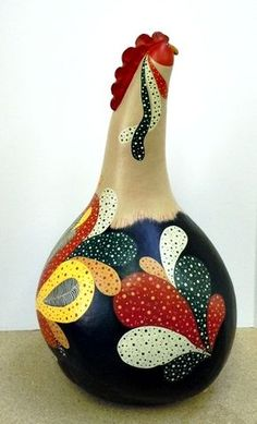 Colorful Rooster Gourd