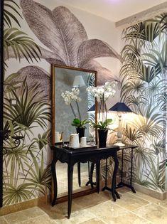 """Le décor """"Palmiers"""" en couleur _ ANANBO papier peint"""