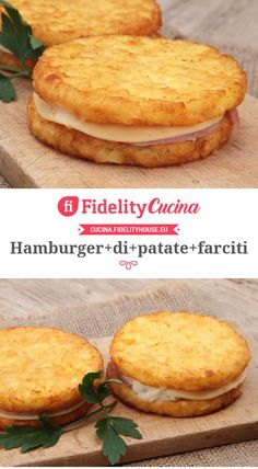 Hamburger di patate farciti - Hamburger di patate farciti You are in the right place about salata de vinete Here we offer you the - I Love Food, Good Food, Yummy Food, Tasty, Veggie Recipes, Cooking Recipes, Beste Burger, Antipasto, Creative Food