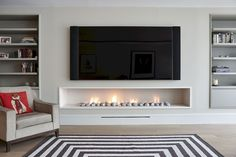 Awesome 66 Fabulous DIY Living Room Fireplace Ideas https://besideroom.com/2017/06/19/66-fabulous-diy-living-room-fireplace-ideas/