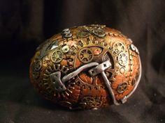 Steampunk Dragon Egg OOAK Sculpt by ReevarooCreations on Etsy