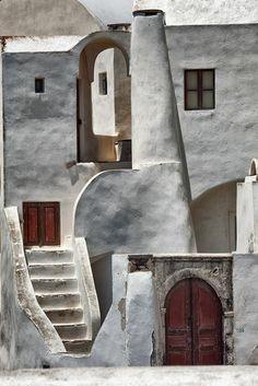 architecture vernaculaire, maison traditionnelle à Santorine