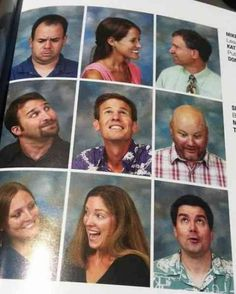 Take a kindergarten class picture like this :)