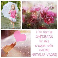 My hart is DANKBAAR vir elke druppel reën. DANKIE HEMELSE VADER!