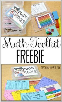 Math Tools {Lots of Freebies