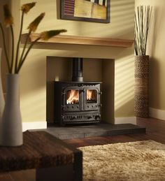 Bayswater multi fuel stove - The graceful Bayswater is the hallmark of British-built stoves. Solid and reliable yet beautifully detailed and easy to control, the Bayswater will become the heart of your home. Gas Stove Fireplace, Stove Accessories, Wood Fuel, Multi Fuel Stove, Double Sided Fireplace, Wood Burner, Traditional Design, Hearth, Home Appliances