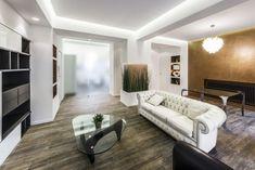 led deckenbeleuchtung wohnzimmer dachschräge akzent | Raumdesign ...