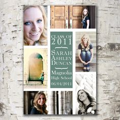 Custom Digital GRADUATION ANNOUNCEMENT Photo Card Design - Collage. $18.00, via Etsy.