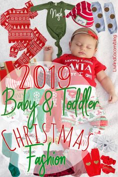 Baby and Toddler Christmas Fashion Guide 2019 - Liv & Co. Trendy Newborn Baby Bodysuits, Toddler T-Shirts + Accessories Handmade in the USA Girls Christmas Outfits, Christmas Fashion, Best Christmas Presents, Christmas Photos, Toddler Outfits, Kids Outfits, Gigi And Max, Toddler Christmas, Fashion Guide
