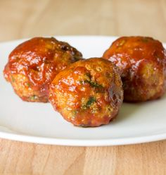 Honey Barbeque Chicken Meatballs - The Wholesome Dish