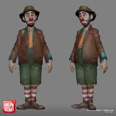 ArtStation - SrClown - Disney's Ralph Breaks the Internet, Sergi Caballer 2d Character, Character Creation, Character Design, Blender 3d, Walt Disney Animation Studios, 3d Animation, Cg Artist, 3d Cartoon, Disney Art