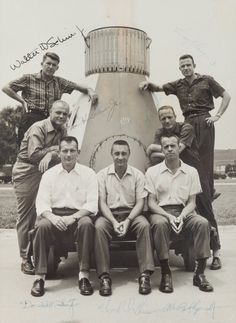 & Carpenter We Take Customers As Our Gods Schirra - Glenn Collection Of 3 Mercury Astronauts