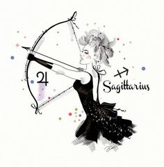 Sagittarius, lady of luck and adventure