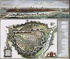Exquisite detail from a map of Danzig by Peter Willer, 1687 Danzig, Know Your Place, Gdansk Poland, Merian, Walled City, Old Maps, Antique Prints, Old Pictures, Botanical Prints