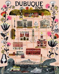 Katie Vernon - map of Dubuque