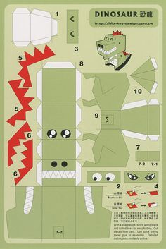 Dinosaur - Cut Out Postcard | Flickr – Compartilhamento de fotos!