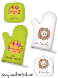 Thanksgiving Custom Pot Holder Monogrammed by SassySouthernGals