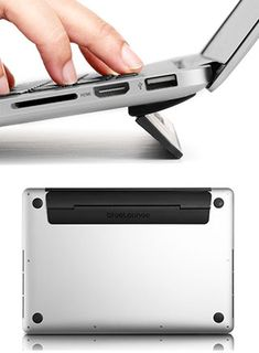 Bluelounge - Kickflip: Taking laptops to the next level, Kickflip is a stand that elevates your laptop at an ergonomic angle.