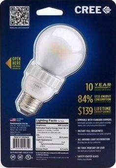 cree 9.5 watt led light bulb