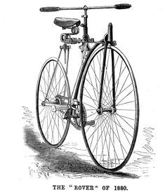The Rover Bicycle of History Online, Gilded Age, Edwardian Era, African History, Inventions, Landing, Transportation, Bicycle, Steampunk