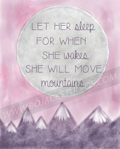 She Will Move Mountains  Shakespeare quote print by BoJackSudios, $10.00