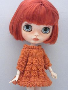 Blythe Knitted dress for your Blythe doll handmade hand