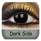 Dark Side Crazy Contact Lenses- Solid Black $33.99 a pair