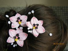 Quilling examples - Flowers / Hair ornaments