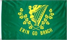 Erin Go Bragh Flag 3x5 3 x 5 NEW IRELAND IRISH Banner by Other Flags. $0.70. Express Domestic Shipping is OVERNITE 98% of the time, otherwise 2-day.. FAST SHIPPER: Ships in 1 Business Day; usually the Same Day if pmnt clears by noon CST. Express International Shipping is Global Express Mail (2-3 days). 3 Foot by 5 Foot, Indoor-Outdoor, Lightweight Polyester Flag with Sharp Vivd Colors. 2 Metal Grommets For Eash Mounting with Canvas Hem for long lasting strength. 3 fo...