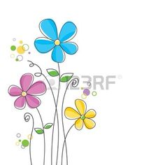 Abstract Flowers Cliparts, Stock Vector And Royalty Free Abstract Flowers Illustrations Clipart, Bristol, Art Carte, Vector Flowers, Flower Doodles, Hand Embroidery Patterns, Flower Backgrounds, Abstract Flowers, Watercolor Cards