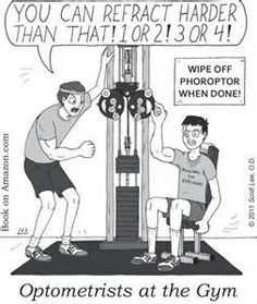Optometrists at the Gym We enjoy Sight Gags by optometrist Scott Lee!