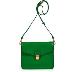 MARC BY MARC JACOBS Fresh Grass Leather Crossbody Bag ($295) ❤ liked on Polyvore