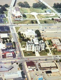 Aerial view of the Vigo County Courthouse.