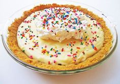 Cake Batter Pie!!  Really?  anything with cake batter......num num num