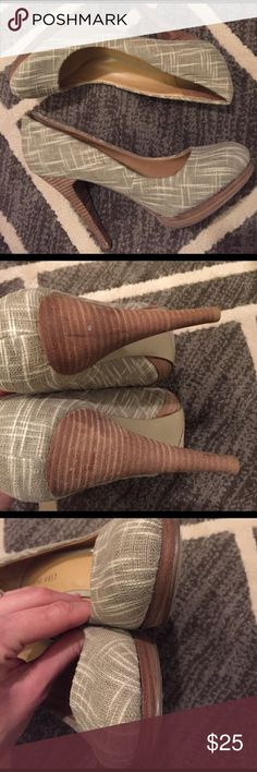Smooch Me Nine West Heels These are a personal favorite! The fabric is such nice quality. Gorgeous condition. Barely worn. No trades. Nine West Shoes Heels