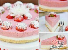 Miluji tyto nepečené dezerty. Jeden z toho obrovského množství nepečených sladkostí je i tento jahodový dort. Příprava je rychlá a výsledek fenomenální. Autor: adkas Cheesecakes, Cupcake Cakes, Cupcakes, Sweet Cooking, Vanilla Cake, Panna Cotta, Cake Recipes, Deserts, Strawberry