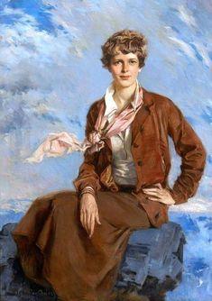 Amelia Earhart, Magazine Illustration, Thing 1, National Portrait Gallery, Feminist Art, Iconic Women, Women In History, Art History, Portrait Art
