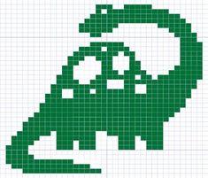 Image result for dinosaur Knitting Charts