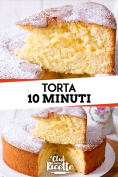 10 Minute Cake Recipe - The Recipe Club- Ricetta Torta 10 Minuti – Il Club delle Ricette A quick and easy cake ready in 10 minutes: in little … - Köstliche Desserts, Delicious Desserts, Italian Cake, Food Club, New Cake, Happy Foods, Almond Cakes, Food Cakes, Quick Easy Meals