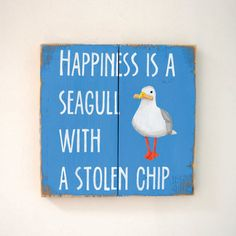 Happiness Is A Seagull With A Stolen Chip  by MeganMooreDesigns
