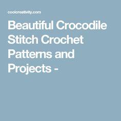 Beautiful Crocodile Stitch Crochet Patterns and Projects -