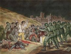 A zombie tribute to a Goya painting .... very cool