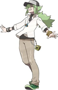 """N, from """"Pokemon."""" Although he's made out to be the leader (or king, as he calls it) of the criminal organization Team Plasma, N fights to protect Pokemon from trainers, whom he believes to be abusive."""