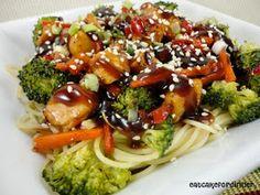 Eat Cake For Dinner: Teriyaki Chicken and Noodle Bowl